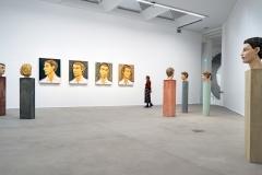 Stefan Balkenhol, Große Kopfreliefs (4-teilig), 2000/ Hermen, 2020, © VG Bild-Kunst, Bonn 2021, Foto: Thomas Köster