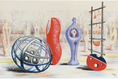 Henry Moore, Skulpturale Objekte, 1949, ©Henry Moore Foundation, Foto: Museum