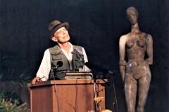 Joseph Beuys bei der Verleihung des Lehmbruck-Preises, Foto: Britta Lauer