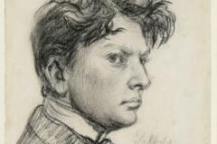 Wilhelm Lehmbruck, Selbstporträt, 1902, Foto: Jürgen Diemer
