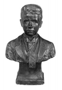 """Das Foto zeigt die Skulptur """"Selbstporträt"""" von Wilhelm Lehmbruck."""